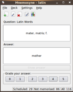 Latin word for mother. I rank this a 4.
